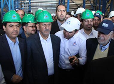 افتتاح کارخانه کنسانتره سنگ آهن شرکت معدنی سنگان توسط معاون اول ریاست جمهوری