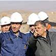 بازدید سید پرویز فتاح رئیس بنیاد مستضعفان از پروژه کارخانه کنسانتره سنگ آهن فولاد شرق کاوه در منطقه سنگان
