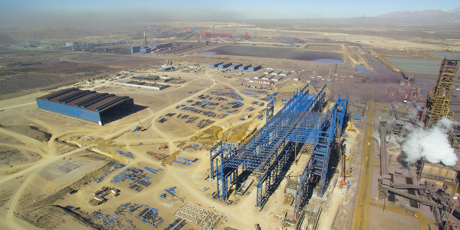 Construction of 3 million ton Gol Gohar steel plant